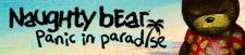 Naughty Bear Panic in Paradise banniere
