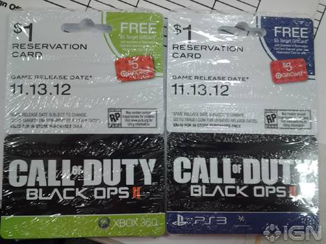 call of duty black ops II cartes réservation IGN
