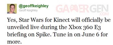 Twetter Geoff Keighley kinect star wars