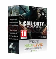 Abonnement Xbox LIVE 12mois + T-Shirt COD Black Ops 59€