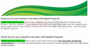 xbox live fall update change