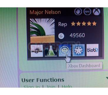 xbox dashboard gamercard major nelson