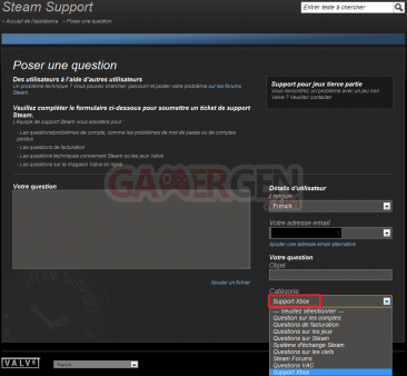 Steam Support Xbox360