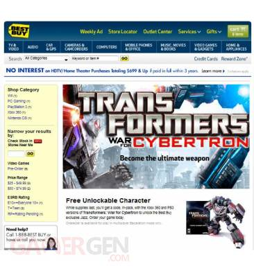 best buy promo transformers war for cybertron jazz xbox xbox360 360 xboxgen