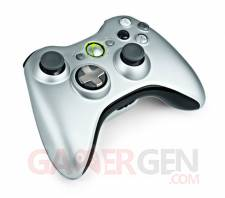 Manette-Xbox360 Silver  02