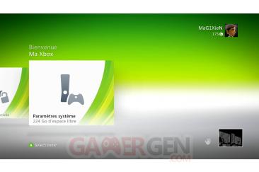 DASHboard XBOX 360 12611ma Xbox-parametre