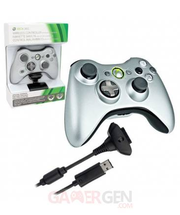 Manette-Xbox360 Silver  04