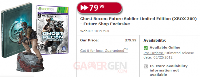 ghost recon future soldier bundle future shop canada