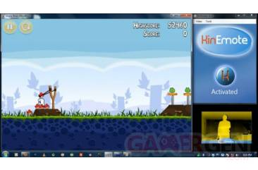 angry birds hack kinect
