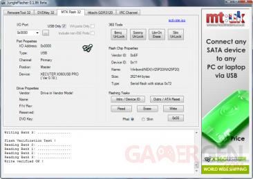 Flash du PCB sous Jungleflasher-X360USB pro 7