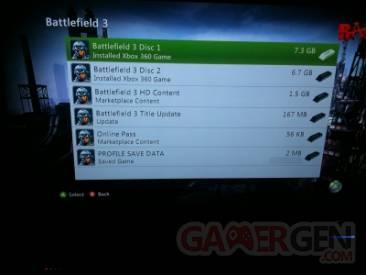 Battlefield 3 - Taille d'installation 2