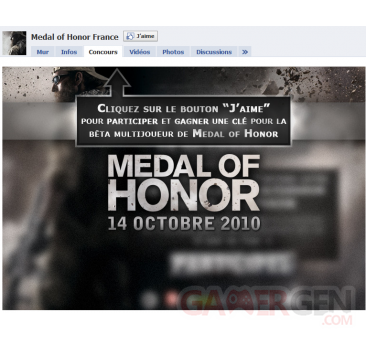facebook medal of honor
