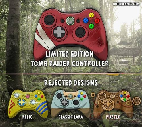 Manette tomb Raider - design rejetes