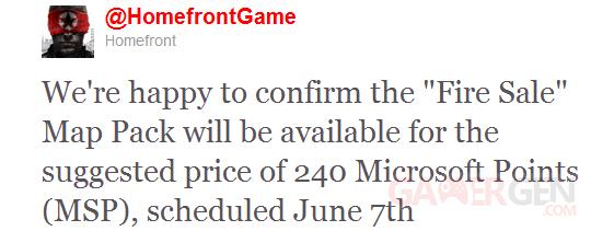 Fire Sale prix DLC Twitter