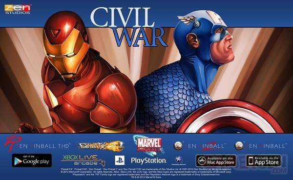 Civil War - Marvel Pinball