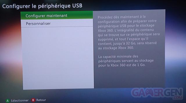 32go de stockage Xbox 360