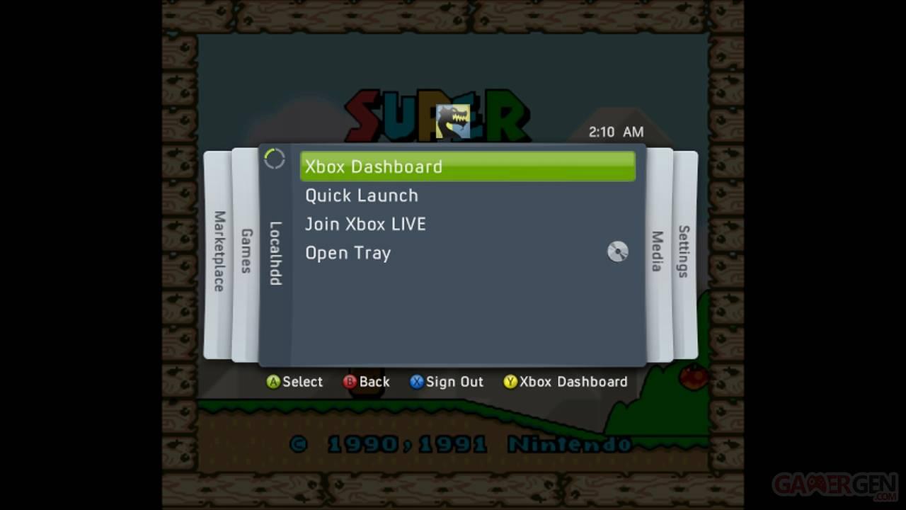 SNES360InGameonXbox360