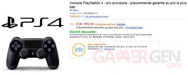 Amazon PS4 précommande