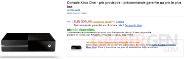 Amazon xbox One précommande