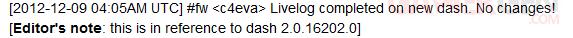 analyse de c4eva mise à jour kernel 16202