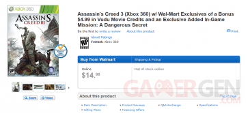 assassin's creed III promo walmart