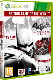 batman arkham city goty jaquette