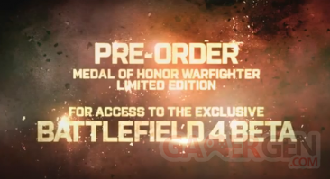 battlefield 4 beta medal of honor précommande