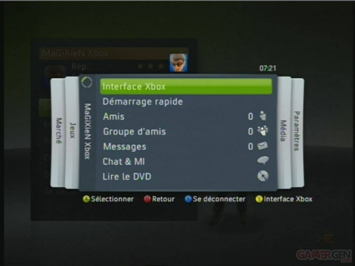 Copie de xbox live interface
