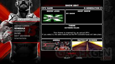 Create a PPV wwe 13 univers