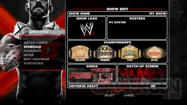 Create a Show wwe 13 univers