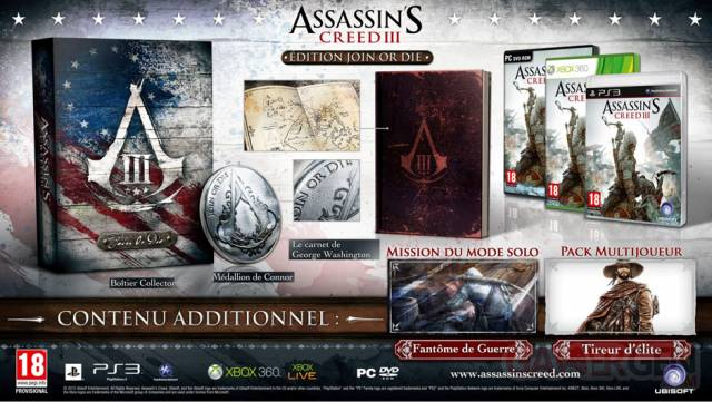 édition join or die assassin's creed III