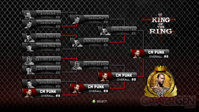 King of the ring tournoi wwe 13 capture image screenshot 25-05-2012