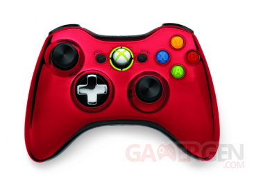 manette chrome serie rouge