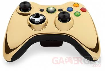 manette Xbox 360 Special Edition Chrome Series Gold or