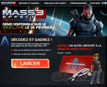 mass effect 3 démo facebook