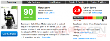 modern warfare 3 metacritic