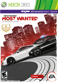 need for speed most wnated xbox 360 kinect