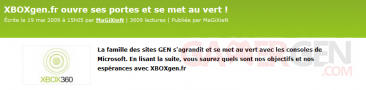 news ouverture xboxgen 19 mai 2009 capture image screenshot