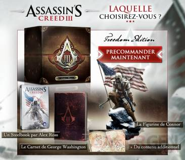 precommande assassin's creed III freedom edition
