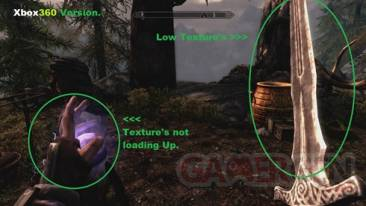 Problème de textures sur Xbox 360 - Skyrim 1