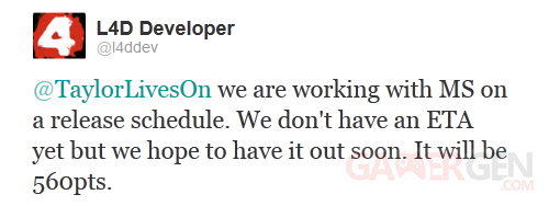 tweet l4d developer valve