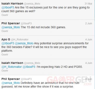 tweet phil spencer annonce jeu surprise xbox 360 e3 07-06-2013