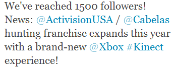 twitter hunting games activision