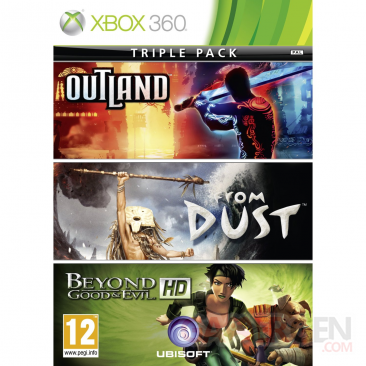 ubisoft-triple-pack beyond & good evil hd from dust outland jaquette cover xbox