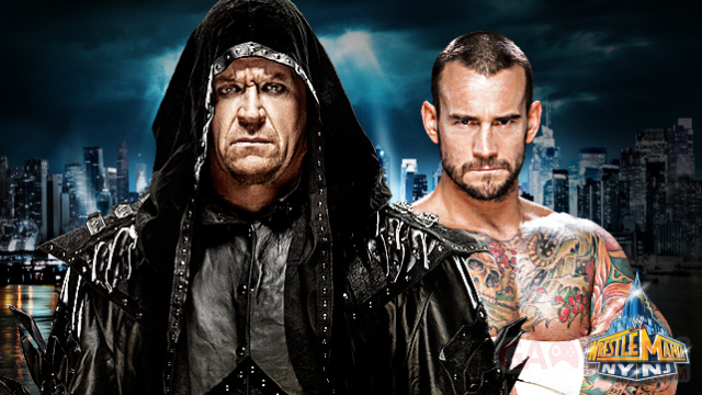 Wrestlemania XXIX affiche cm punk undertaker