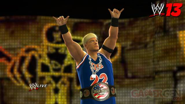 WWE 13 capture image screenshot John Cena rapper pack dlc 2 superstars wwe