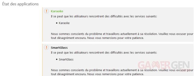 Xbox LIVE Service Etat Application capture image 22-03-2013